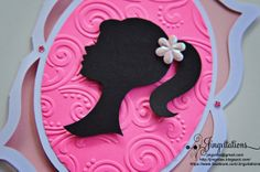 Embossed with Cuttlebug. Cut using Cricut artiste and silhouette cameo invitations Barbie Birthday Party, Barbie Party, 10th Birthday, Birthday Parties, Birthday Cards, Birthday Ideas, Barbie Invitations, Handmade Invitations, Birthday Invitations