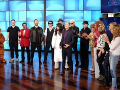 Ellen introduced the members of her squad, provingthat Taylor Swift has some tough competition.