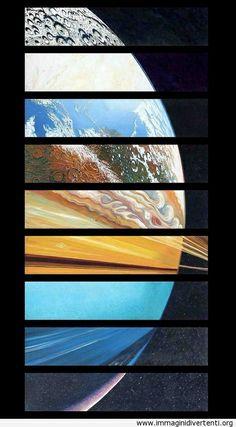 Nove pianeti del sistema solare come uno