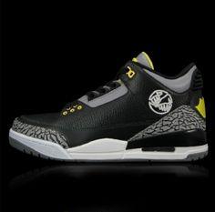 Authentic Air Jordan 3 Oregon Ducks Black Cheap Jordan Shoes 70ea5aaf1