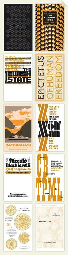 David Pearson's Fifth series of covers for Penguin Book's Great Ideas Series.
