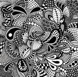 "zentangle drawn on 10"" x 10"" bristol board - 3 or 3"
