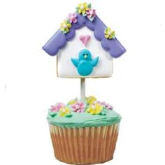 Give friends and family something to tweet about when you serve these birdhouse-topped cupcakes. The foundation of these delectable goodies begins with the Square Cut-Outs™.