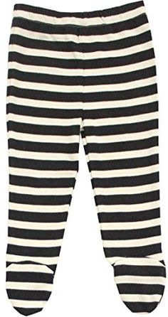 Organic Cotton Baby Pants Footed GOTS Certified Clothes BlackNatural 612m ** Be sure to check out this awesome product.Note:It is affiliate link to Amazon.