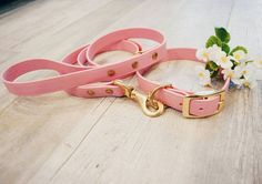 Waterproof Dog Collar in Light Pastel Pink by goodwolfdesignco