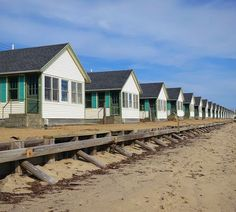 Beach cottages in Truro, Cape Cod, MA.- always wanted to stay in one of these- just think they're cute!