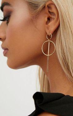 Double Circle Bar Earrings Gold Double Circle Bar EarringsGirl we are lovin' these super cute earrings.Gold Double Circle Bar EarringsGirl we are lovin' these super cute earrings. Gold Bar Earrings, Diamond Hoop Earrings, Simple Earrings, Cute Earrings, Beautiful Earrings, Crystal Earrings, Double Earrings, Prom Earrings, Jewellery Earrings