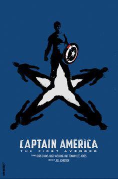 Captain America movie poster by Daniel Norris