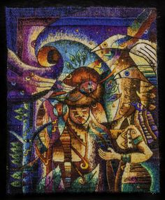 Handwoven Miniature Tapestry by Maximo Laura - Peruvian Tapestry Art. Contemporary Tapestries, Contemporary Art, Art Journal Backgrounds, Cubism Art, Textiles, Art Competitions, Tapestry Weaving, Textile Artists, Museums