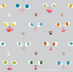 cat face desktop wallpaper by Juliabe.