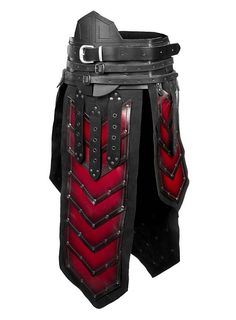 Dwarf War Skirt red & black