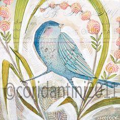 glory days blue bird 8 x 8 cori dantini limited by corid, $20.00