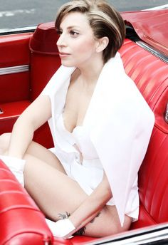 Lady Gaga in her Cadillac :)