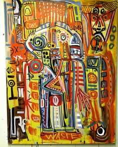 """""""Pros and Cons"""" Acrylic on canvas 30x40"""" Finished and available 2016 #NewYorkArtist #pablopicasso #abstractart #neoexpressionism #contemporaryart #expressionism #outsiderart #basquiat #modernart #artdealer #artist #abstractpainting #pollock #jeanmichelbasquiat #coolart #russianart #originalart #russianartist #nyc #acrylicpainting #antonvitkovskiy #cubism #flaming_abstracts by antovitko"""