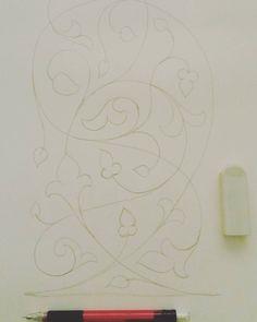 #floral #design #sketch #art #الزخرفة #الزخارف_الإسلامية #الفنون #الفن