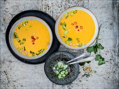 Soup Recipes, Cooking, Ethnic Recipes, Food, Curry Paste, Carrot Soup, Red Chili, Easy Meals, Koken