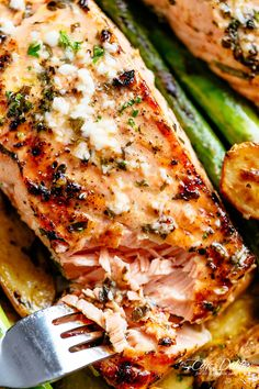 Tender Garlic Butter Baked Salmon