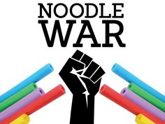 Quickie:  A hectic, fast paced noodle tag team game  Pro Tips:    1. Use referees if possible    2. Play some music    3. Embrace the chaos. For real. Things will get chaotic. Don't fight it. Supplies:     * 1 Pool Noodle per student. For real. How to Play:  Divide the group up into teams. However many teams you want is up to you.  Probably the fewer teams possible, the better.  When someone on the opposing team hits you with a pool noodle - you sit  down. When your own team member hits you…