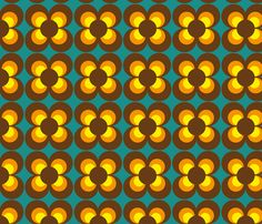 Retro Flower brown orange yellow fabric byc heimatkinder on Spoonflower - custom fabric I've the color 60s Patterns, Graphic Patterns, Vintage Patterns, Textures Patterns, Print Patterns, Retro Wallpaper, Pattern Wallpaper, Fabric Wallpaper, Retro Pattern