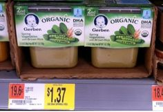 $1/2 Gerber Organic Baby Food Coupon Means Containers As Low As $.25 Each!