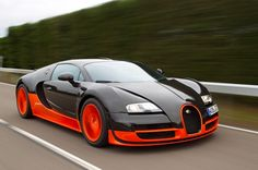 Bugatti Veyron Super Sport Model year: 2010 Top speed: 267.8 mph (430.9km/h) Engine: 8.0 liter W16 (1200 hp)