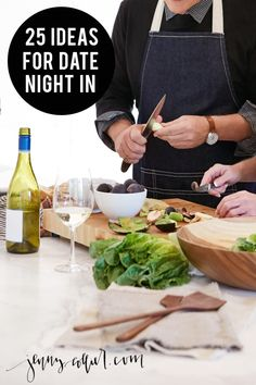 A weekly date night is important in our house. A babysitter isn't always feasible and a date night isn't always affordable so I compiled a list of 25 ideas for date night in.