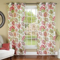 m.style Tessa 84-Inch Grommet Top Window Curtain Panel Pair - BedBathandBeyond.com