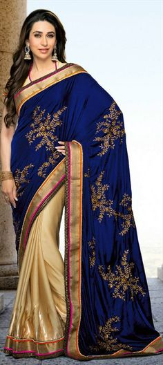 121651:  saree modeled by  KARISMA KAPOOR. Order her style before anyone!