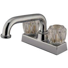 Centerset Laundry Faucet with Double Knob Handles
