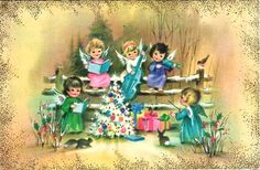 Old Christmas Post Cards — (740x485)