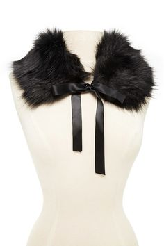 Ribbon Tie Faux Fur Scarf   Forever 21 - 1000191750