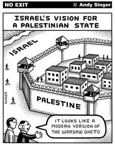 Bibi Netanyahu's vision for a Palestinian state.
