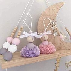 Diy Arts And Crafts, Creative Crafts, Bead Crafts, Crafts For Kids, Doll Storage, Ballerina Ornaments, Rakhi Design, Pom Pom Crafts, Clothespin Dolls