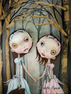 by MIchele Lynch - Pop Surrealism Sisters Fairy Tale Low Brow Art Print 2/50
