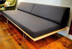 Case Study Daybed by Modernica Hairpin Legs 74″L, 33″Deep …back is 27″ high and seat is 15″ high