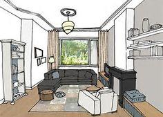 Afbeeldingsresultaten voor interieurarchitect bouwtekening