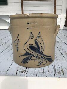 Blue Antique Ceramics & Porcelain for sale Antique Crocks, Old Crocks, Antique Stoneware, Stoneware Crocks, Antique Pottery, Salmon Falls Pottery, Glazes For Pottery, Glazed Pottery, Louisville Stoneware