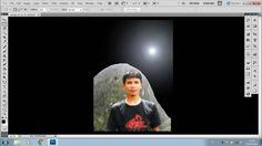 Cara membuat sinar bulan - Photoshop CS5