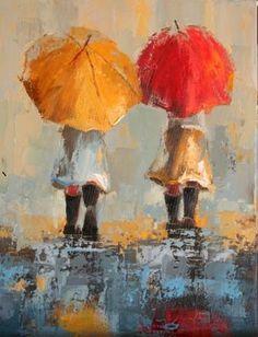 Best friends in the rain