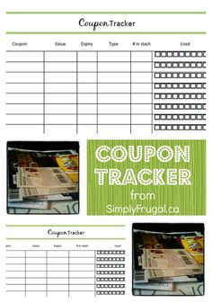 Organize your coupon stash with these printable coupon trackers!