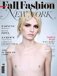 """Andrej Pejic, androgynous male model on the cover of """"New York"""" magazine. Brigitte Lacombe, Androgynous Models, Androgynous People, Androgynous Style, Gender Binary, Transgender Model, Red Louboutin, Media Literacy, Genderqueer"""