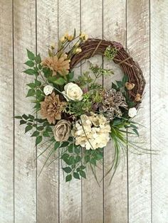 Burlap Wreath, Neutral Wreath, Everyday Wreath, Year Round Wreath, Any Occasion … - Burlap Wreath Crafts, Diy Wreath, Grapevine Wreath, Wreath Ideas, Tulle Wreath, Burlap Wreaths, Mesh Wreaths, Diy Crafts, Corona Floral