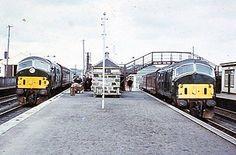 Colour slide of BR class 21 NB diesel locos Electric Locomotive, Diesel Locomotive, E Electric, British Rail, Trains, Colour, Green, Pictures, Color