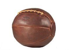 12 lb Handsome Dan Leather Medicine Ball - Brown