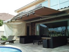 The SunSetter Retractable Awning is one of our many shade solutions for patio, backyard or parks. From DunRite Playgrounds http://www.dunriteplaygrounds.com