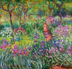 Claude Monet / The Iris Garden at Giverny, 1899-1900