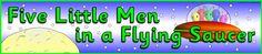 Five Little Men in a Flying Saucer display banner (SB8488) - SparkleBox