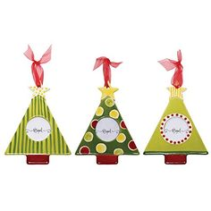 M. Bagwell Ceramic Ornament, Christmas Tree Frame Assortment, 6' x 4.25', 3 Styles/1 Each (3) ^^ Special offer just for you. : Christmas Ornaments