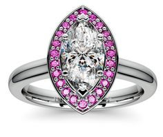 Marquise Halo Pink Sapphire Gemstone Engagement Ring in Platinum  http://www.brilliance.com/engagement-rings/halo-pink-sapphire-gemstone-ring-platinum