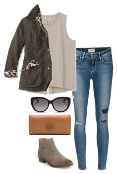 ootd by helenhudson1 on Polyvore featuring Barbour, Paige Denim, Splendid, Tory Burch and Christian Dior